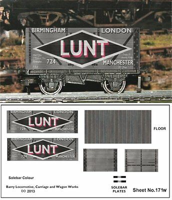RE-LIFE DECALS FOR HORNBY DUBLO LUNT 7 plank WEATHERED