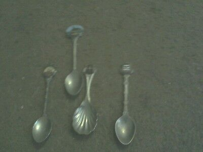 Souvenir Spoon-Small Set of 4 - Lincoln Minster, Paignton, Llandudno, Colchester
