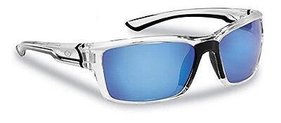 Flying Fisherman Cove Polarized Sunglasses With Crystal Frames, Smoke-blue Mirr