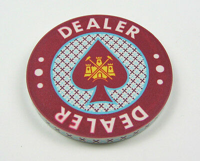 West Ham United - Double Sided Ceramic Dealer Button, 60mm Diameter