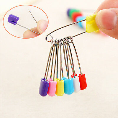 Baby Nappy Diaper Colorful Pin Stainless Steel Large Multi-use Safety Pins 10Pcs