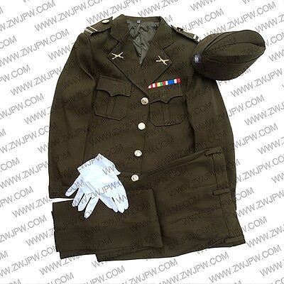 WW2 KMT army Chinese nationalist party civilian uniform set with accessories