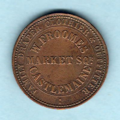 Australia Token. Froomes - 1862 1d. Castlemaine Vic.. gVF