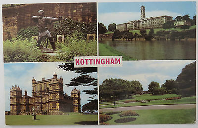 Postcard Nottingham Nottinghamshire Multiview. Posted 1967