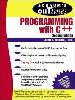 Schaum's Outline of Programming with C++ (Schaum's... by Hubbard, John Paperback