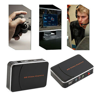 HD Game Video Capture 1080P HDMI YPBPR Recorder US Plug for Game Lovers SW