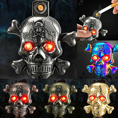 Skull LED Sound Electric Arc Pulse Lighter USB Rechargeable Flameless Gift