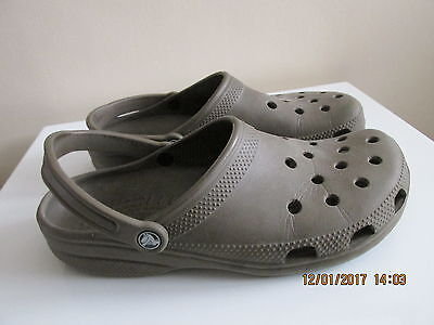 Mens Genuine Cayman Crocs Size Uk 11 Brown   Good Condition