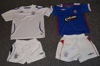 Glasgow Rangers Football Club Infants Strips x 2 (Home & Away) New Without Tags