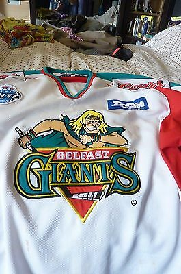 Nathan Craze Belfast Giants  Game worn Jersey Now with Hull Pirates