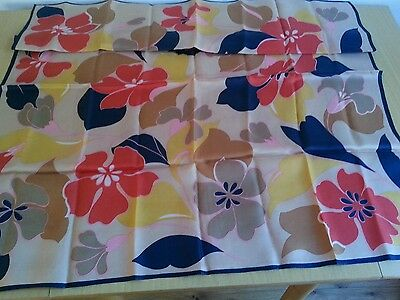 Vintage 60s acetate scarf -bold floral design - various colours