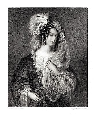 """""""Rebecca"""" (Heroine of Scott's Ivanhoe) Eng. by H.T. Ryall after Miss L. Sharpe"""