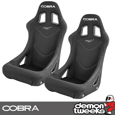 2 x Cobra Monaco Pro FIA Approved Race / Rally Bucket Seats - Black