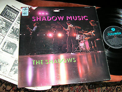 THE SHADOWS  -   Shadow Music,       RARE 1965 UK STEREO LP / inner... EX