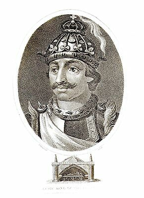 Euric, King of the Visigoths (Son of Theodoric I) Eng. by J. Chapman - Oct 1807
