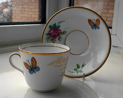 Mid Victorian Porcelain Cup & Saucer for Mrs W G Wright.