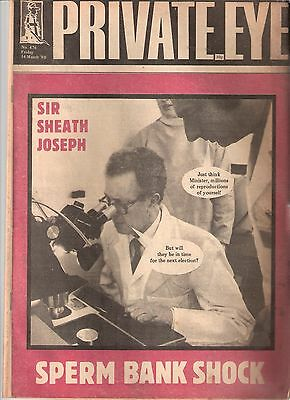 Private Eye Mag # 476 14 March 1980 Sir Keith Joseph MP Tory NHS Minister cover