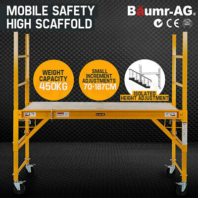 NEW Baumr-AG 450kg Mobile Scaffold High Work Platform Scaffolding Portable