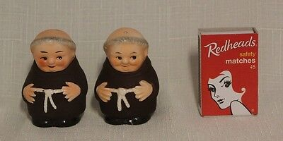 Monk / Friar Tuck Salt And Pepper Shakers