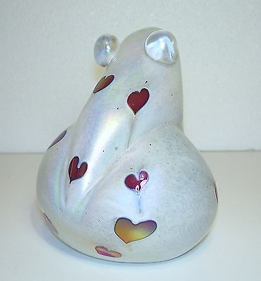 GLASFORM~John Ditchfield~ANNIVERSARY FROG~Limited Edition~2002~VALENTINES DAY