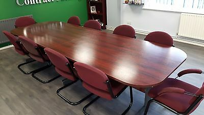 Boardroom / meeting table and 10 chairs