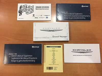Genuine Chrysler Grand Voyager Rt Book Pack Owners Manual Service Book English
