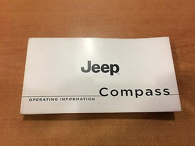 Genuine Jeep Compass Mk Owners Manual Service Book Handbook 2011-15