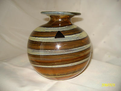 Isle of wight/ Michael Harris Tortoise Shell Glass vase.