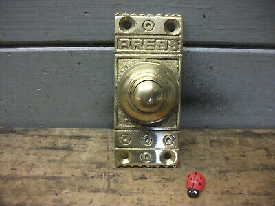 edwardian Style solid Brass door Bell Push - new