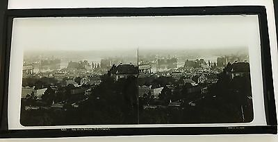 Stereo Glass Dispositive view of Moldau No2 Prague C1860  by Ferrier & Soulier