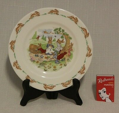 Bunnykins Plate... Made By Royal Doulton