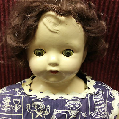 """Old 20"""" Adorable Effanbee Composition/Soft Body Doll Body Marked"""