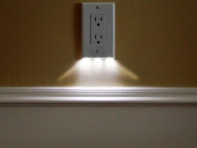 Lot of 3 (THREE) New SnapPower LED Outlet Cover Guidelight/Night Light Decor