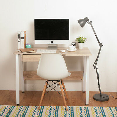 Life Carver Office Computer Desk Natural PC Writing Laptop Table WorkStation