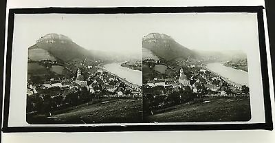 Stereo Glass Dispositive View of  Rhine C1860
