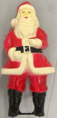 "Vintage Plastic BlowMold Lighted Santa Clause 17"" Inches 1940-50's"