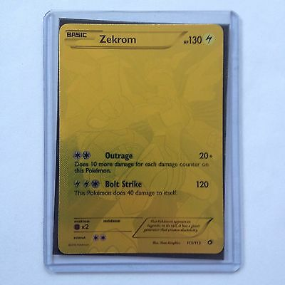 Zekrom Pokemon Card 115/113 Secret Rare Legendary Treasures Near Mint Minus NM-
