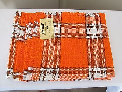 Mid century Modern European orange tweed teak Jolen German table cover