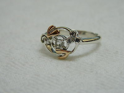 Clogau Silver & Welsh Gold Origin Ring size P RRP £99.00