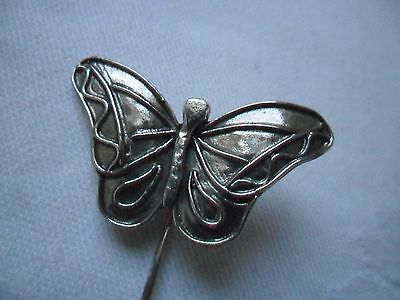 925 Sterling Silver BUTTERFLY Stick Pin.