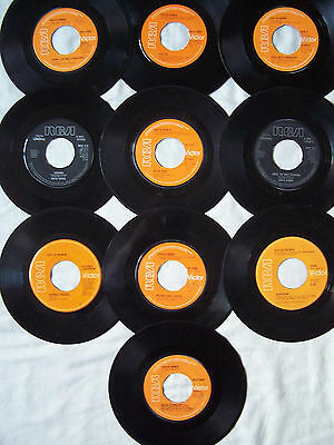 """David Bowie 7"""" Singles X 10 - All Dinked Ideal For Jukebox"""