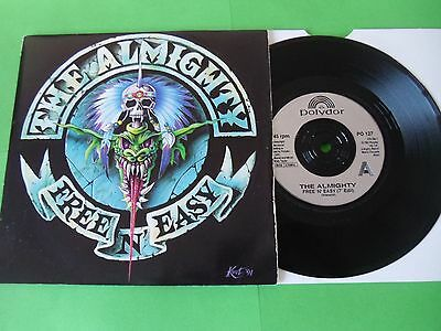 "The Almighty - Free 'n' Easy  7""  91  Vg"