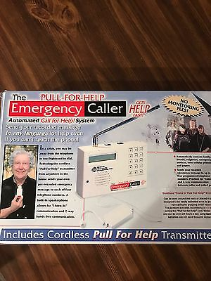 Pull-for-Help Emergency Caller Automated Call for Help System No Monitoring Fees