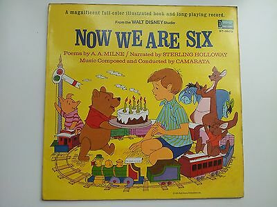Camarata / A A Milne Now We Are Six Vinyl Lp and Booklet Disneyland Records Rare