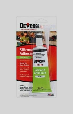 DEVCON 12045 Home Waterproof Silicone Adhesive High Strength Adhesive 1.76oz NEW