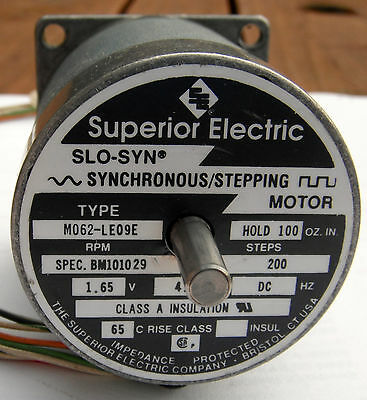 Superior Electric Slo-Syn Stepping/ Stepper Motor MO62-LE09E Double Shaft Tested