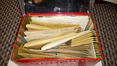 Tin of Belgium Stamps Belgium Congo Stamps 100% unchecked in envelopes