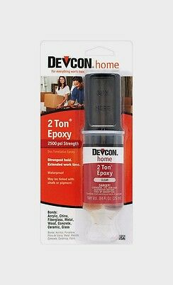 DEVCON 31345 Home 2 TON EPOXY High Strength Multi Surface Adhesive CLEAR .84 oz