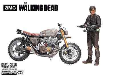 The Walking Dead AMC Daryl Dixon & New Bike Norman Reedus McFarlane Deluxe Box