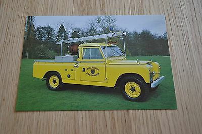 West Sussex Fire Brigade SWB Land Rover Fire Appliance Postcard